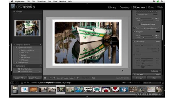 Using a custom watermark for effect in a web gallery: Lightroom 3 Advanced Techniques