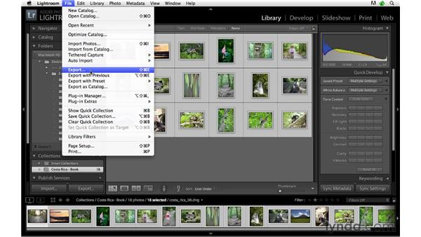 Exporting images for a Blurb photo book: Lightroom 3 Advanced Techniques