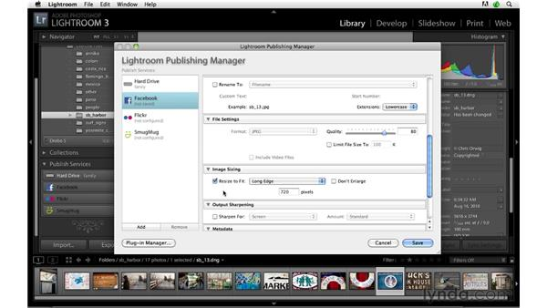 Publishing to Facebook: Lightroom 3 Advanced Techniques