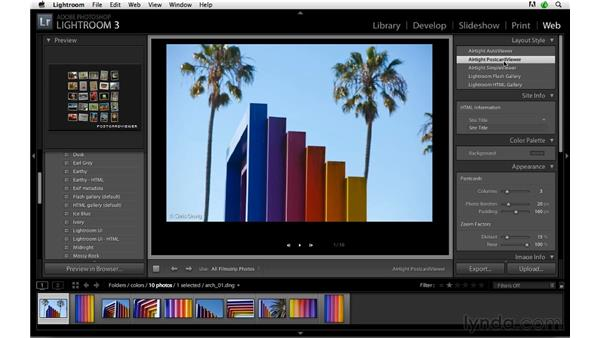 Web galleries and web hosting: Lightroom 3 Advanced Techniques