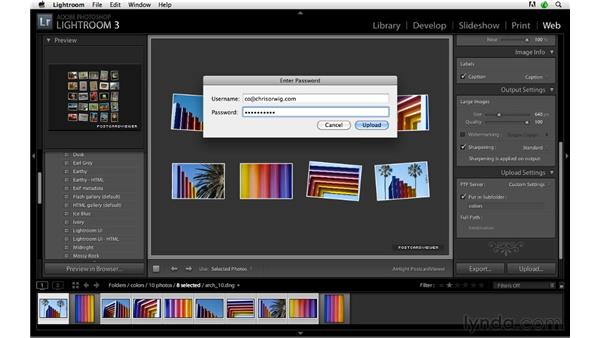 Creating and uploading a gallery: Lightroom 3 Advanced Techniques