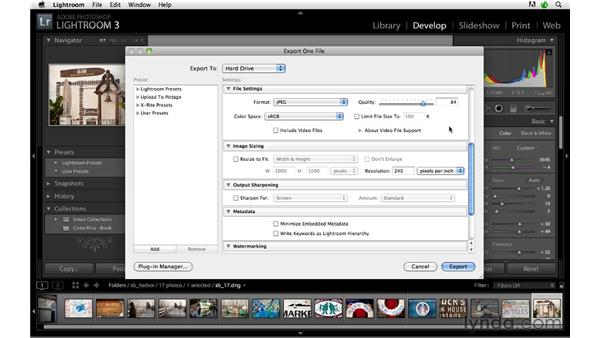 Exporting for the web: Lightroom 3 Advanced Techniques