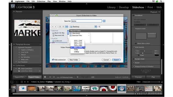 Exporting and posting a slideshow or video: Lightroom 3 Advanced Techniques