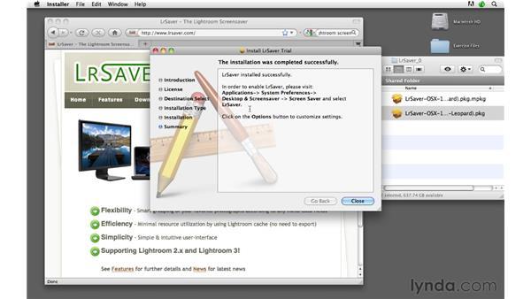 Creating a Lightroom screensaver: Lightroom 3 Advanced Techniques