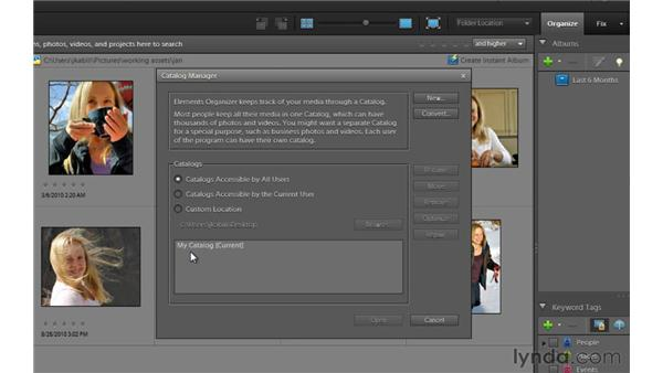 Working with catalogs: Photoshop Elements 9 Essential Training