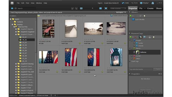 Applying and organizing keyword tags: Photoshop Elements 9 Essential Training