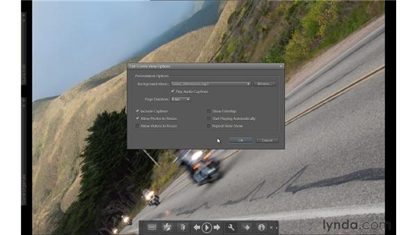 Viewing slideshows in Full Screen view: Photoshop Elements 9 Essential Training