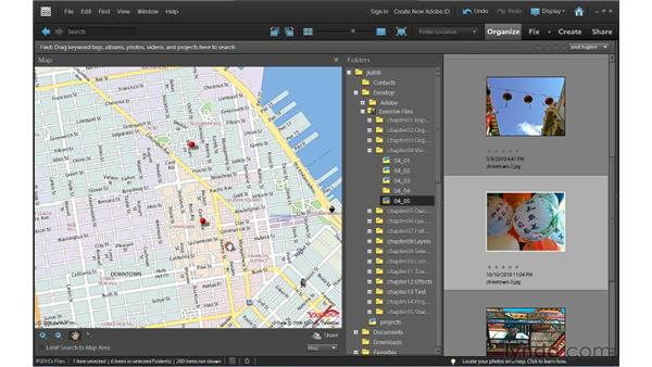 Mapping photos (Windows only): Photoshop Elements 9 Essential Training
