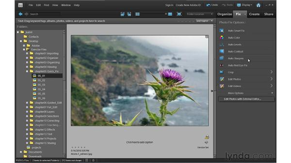 Applying Photo Fix: Photoshop Elements 9 Essential Training