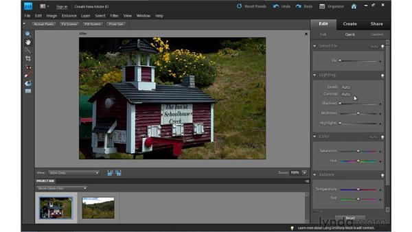 Adjusting lighting in Quick Fix: Photoshop Elements 9 Essential Training