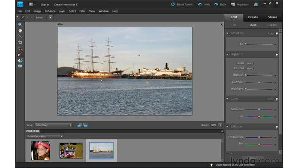 Using the Touch Up tools in Quick Fix: Photoshop Elements 9 Essential Training