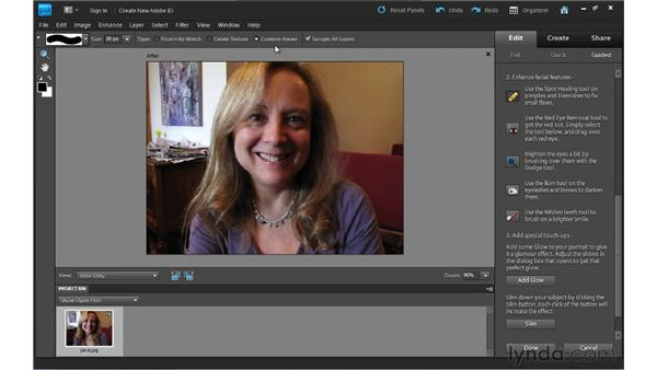 Perfecting a portrait: Photoshop Elements 9 Essential Training