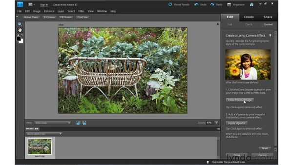 Applying a LOMO camera effect: Photoshop Elements 9 Essential Training