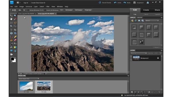 Full Edit workspace overview: Photoshop Elements 9 Essential Training