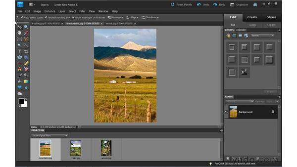 Working with tabbed documents: Photoshop Elements 9 Essential Training