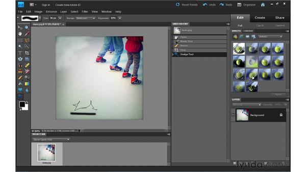 Using Undo History: Photoshop Elements 9 Essential Training