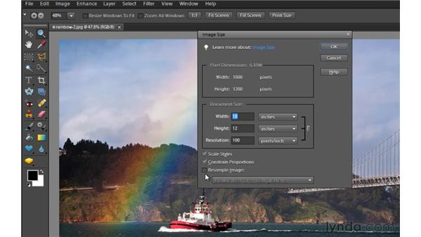 Photo resizing and resolution: Photoshop Elements 9 Essential Training