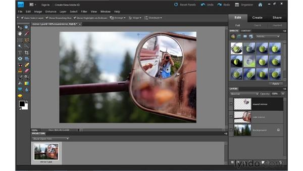 Understanding layers: Photoshop Elements 9 Essential Training
