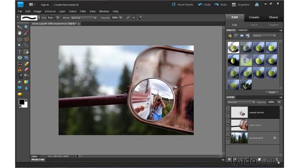 Working in the Layers panel: Photoshop Elements 9 Essential Training