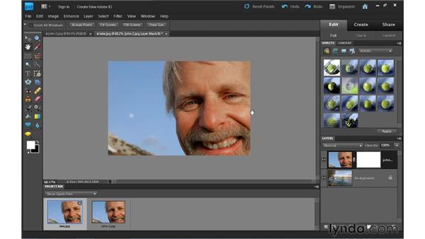 Building composites: Photoshop Elements 9 Essential Training