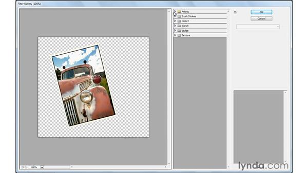 Applying filters: Photoshop Elements 9 Essential Training