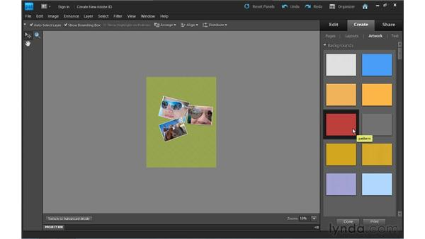 Creating a photo collage: Photoshop Elements 9 Essential Training