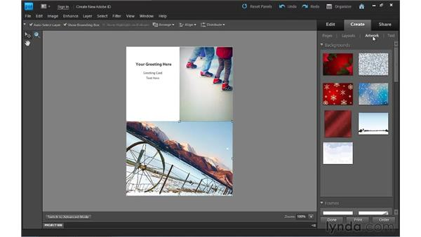 Creating greeting cards: Photoshop Elements 9 Essential Training
