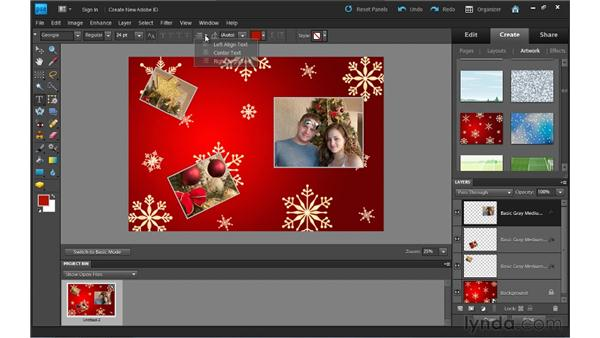 Creating CD/DVD jackets and labels: Photoshop Elements 9 Essential Training