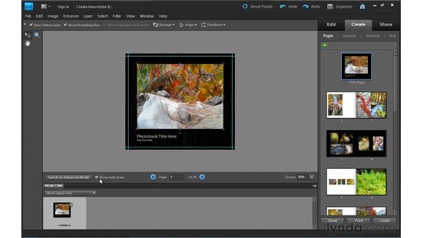 Creating a photo book: Photoshop Elements 9 Essential Training