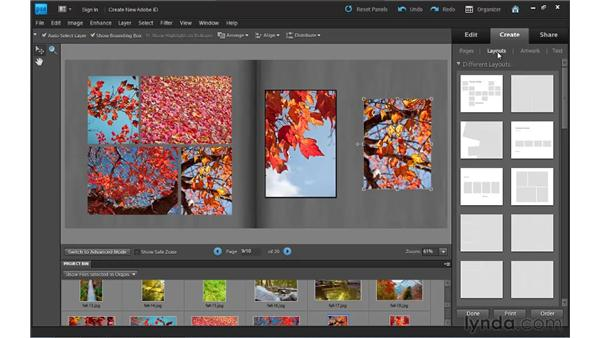 Fine-tuning a photo book: Photoshop Elements 9 Essential Training