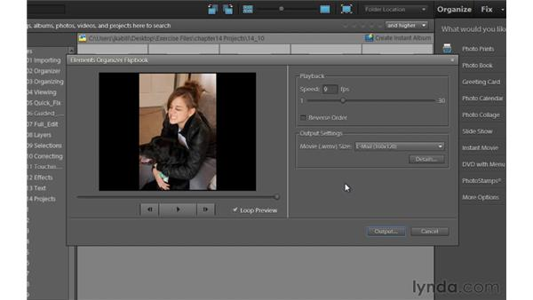 Creating a flip book (Windows only): Photoshop Elements 9 Essential Training