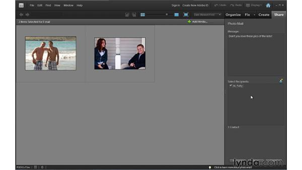 Sharing photos by Photo Mail (Windows only): Photoshop Elements 9 Essential Training