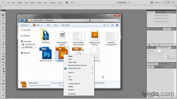 Linking AI and EPS files to Illustrator: Illustrator CS5 One-on-One: Advanced