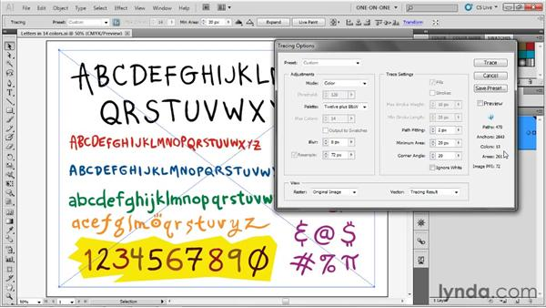 Using the Ignore White option: Illustrator CS5 One-on-One: Advanced