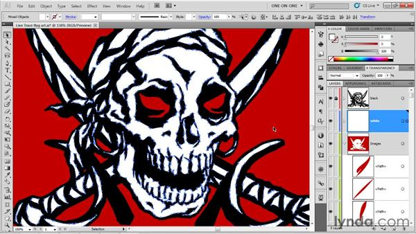 Expanding and separating paths: Illustrator CS5 One-on-One: Advanced