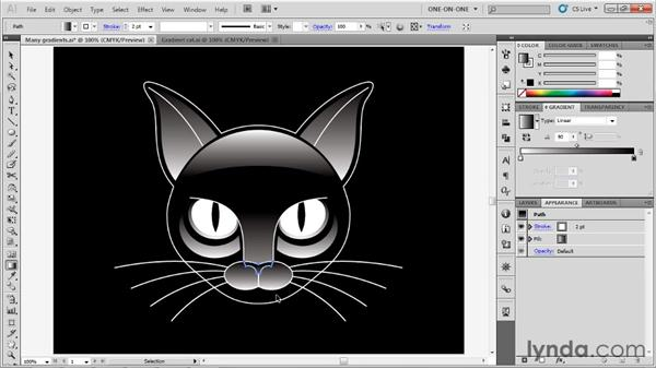 Editing multiple gradients: Illustrator CS5 One-on-One: Advanced