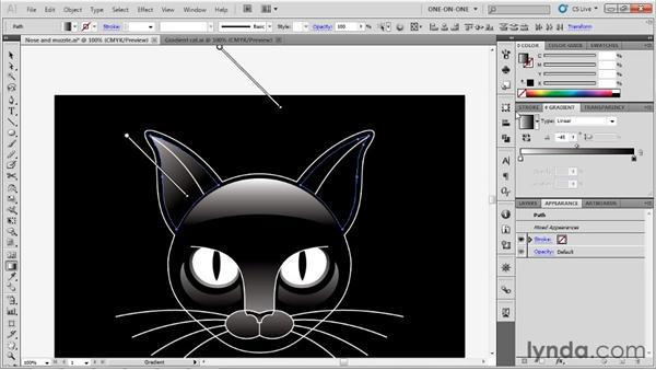 Establishing symmetrical gradients: Illustrator CS5 One-on-One: Advanced