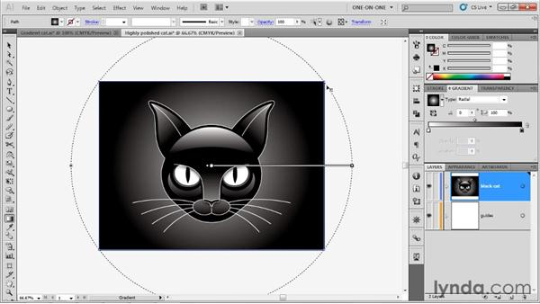 Creating a radial gradient: Illustrator CS5 One-on-One: Advanced