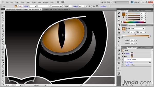 Adjusting the midpoint skew: Illustrator CS5 One-on-One: Advanced