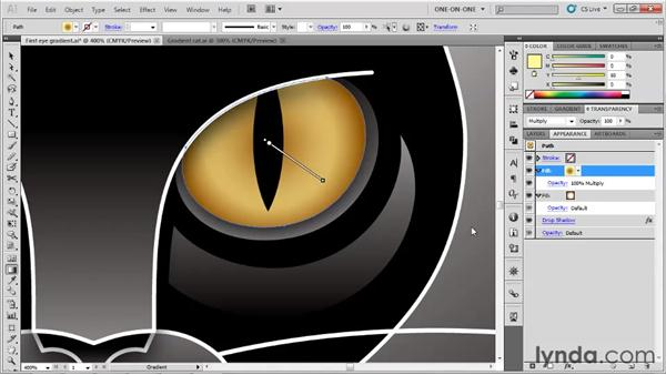Mixing gradients with blend modes: Illustrator CS5 One-on-One: Advanced