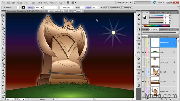 The gradient-intensive illustration: Illustrator CS5 One-on-One: Advanced