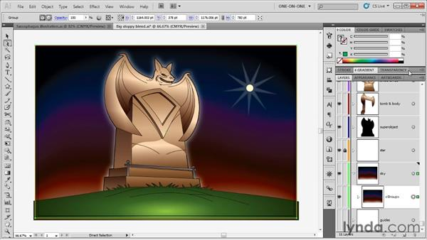 Establishing a clipping mask: Illustrator CS5 One-on-One: Advanced
