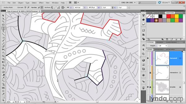 Crafting symmetrical subpaths: Illustrator CS5 One-on-One: Advanced