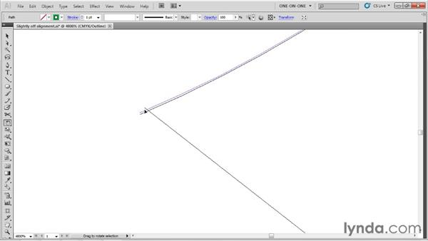 Reconciling misaligned paths: Illustrator CS5 One-on-One: Advanced