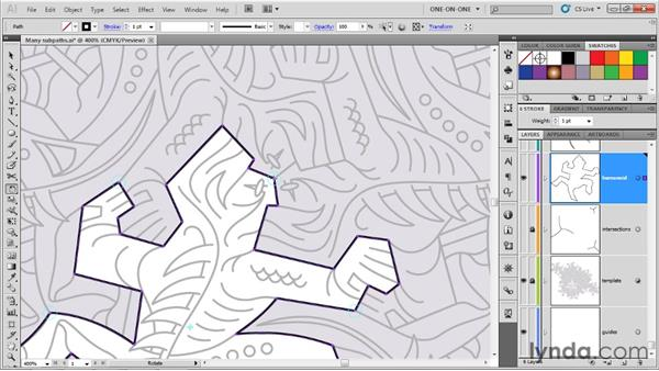 Completing the core path outline: Illustrator CS5 One-on-One: Advanced