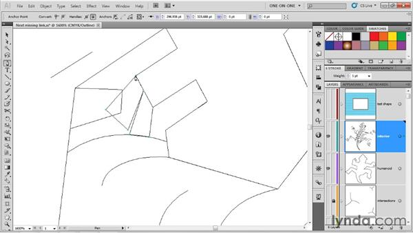 Adjusting the interior elements: Illustrator CS5 One-on-One: Advanced