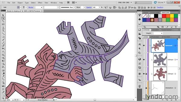 Coloring paths and testing the interlock: Illustrator CS5 One-on-One: Advanced