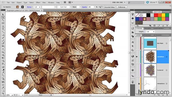 Creating a few color variations: Illustrator CS5 One-on-One: Advanced