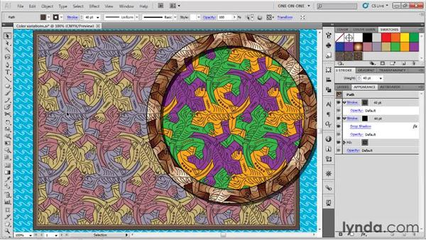 Protecting patterns from transformations: Illustrator CS5 One-on-One: Advanced