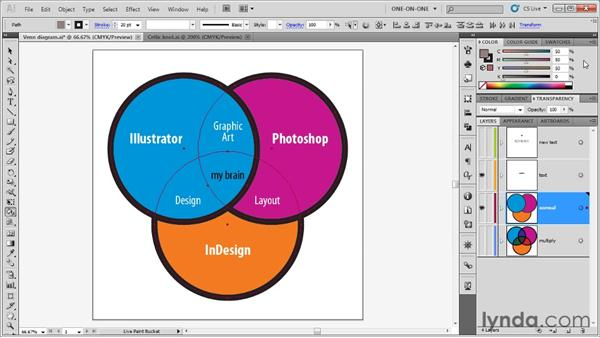 Introducing Live Paint: Illustrator CS5 One-on-One: Advanced